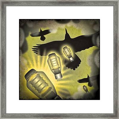 Analog Bombardment Framed Print by Milton Thompson