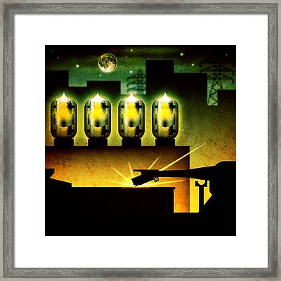 Analog Evening Framed Print by Milton Thompson