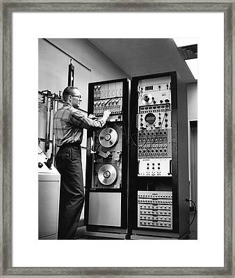 Analog Tape Recorder Framed Print by Underwood Archives