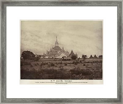 Ananda Pagoda Framed Print by British Library