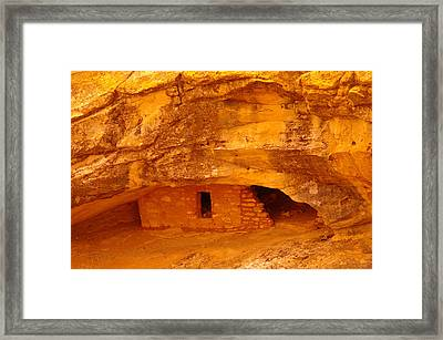 Anasazi Ruins  Framed Print by Jeff Swan