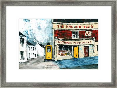 Anchor Bar  Carlingford  Louth Framed Print by Val Byrne