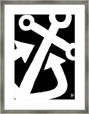 Anchor-black Framed Print by Catherine Peters
