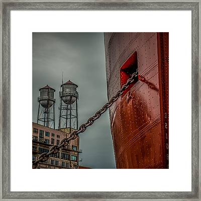Anchor Chain Framed Print by Paul Freidlund