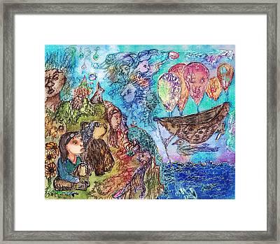 Anchored Beneath Framed Print by Cynthia  Richards