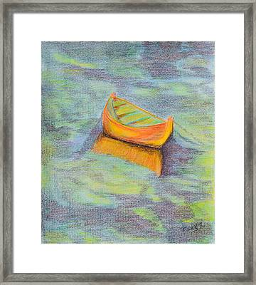 Anchored In The Shallows Framed Print by Donna Blackhall