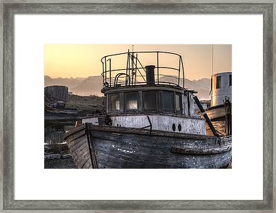 Anchored To The Past Framed Print by William Fields