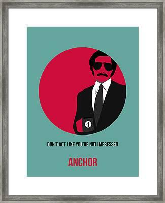 Anchorman Poster 1 Framed Print by Naxart Studio