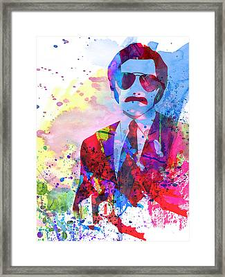 Anchorman Watercolor 2 Framed Print by Naxart Studio