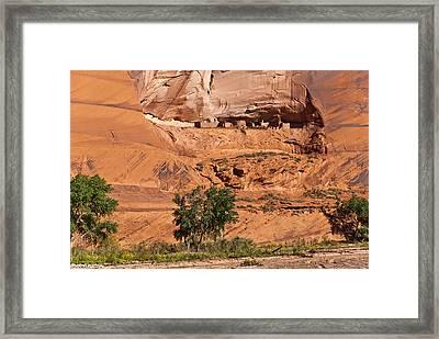 Ancient Anasazi Pueblo Canyon Dechelly Framed Print by Bob and Nadine Johnston