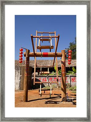 Ancient China Swing Framed Print by Tosporn Preede