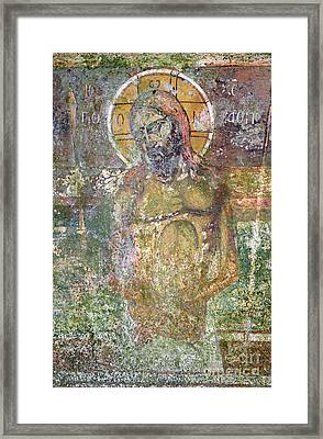 Ancient Christ Icon Framed Print by Neil Overy