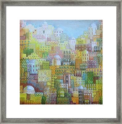 Ancient City Framed Print by Janice MacDougall