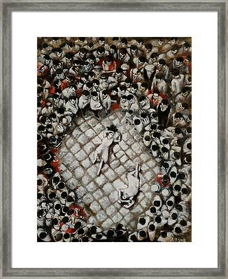 Ancient Dancers Of The Tarantula Dance Framed Print by Alessandra Andrisani