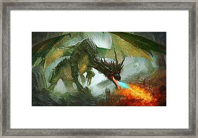 Ancient Dragon Framed Print by Ryan Barger