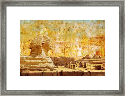 Ancient Egypt Civilization 08 Framed Print by Catf