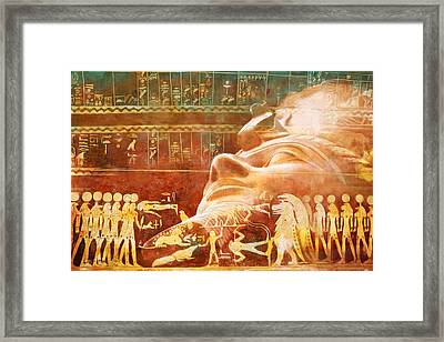 Ancient Egypt Civilization Detail 00 Framed Print by Catf