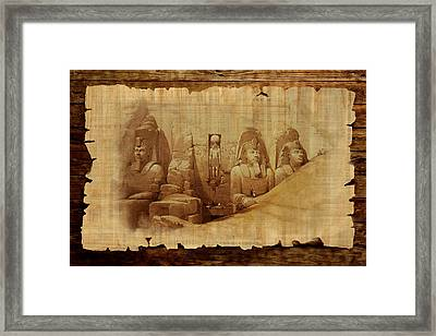 Ancient Egypt Civilization Detail 03 Framed Print by Catf