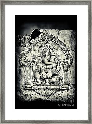 Ancient Ganesha Framed Print by Tim Gainey