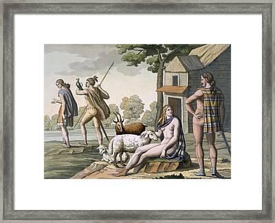 Ancient Gauls, C.1800-18 Framed Print by Italian School