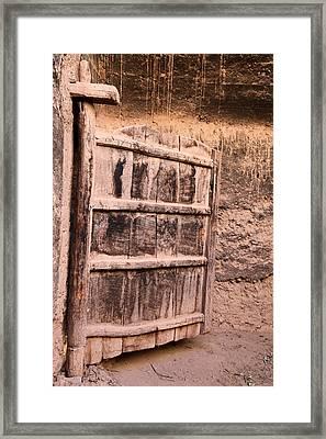 Ancient Kasbah Door Framed Print by Sophie Vigneault