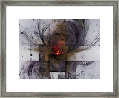 Ancient Letter Writing Framed Print by Jeff Iverson