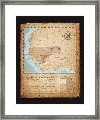 Ancient Mali Empire Framed Print by Dave Kobrenski