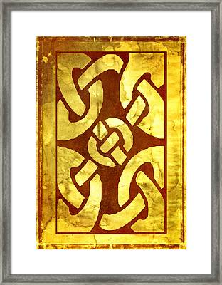 Ancient Ornamental Celtic Design Framed Print by Georgiana Romanovna