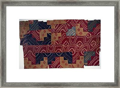 Ancient Peruvian Fabric Framed Print by Science Photo Library