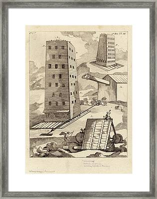 Ancient Siege Warfare Framed Print by Images Of The Ancient World/new York Public Library