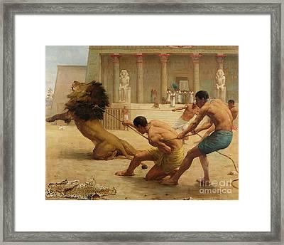 Ancient Sport Framed Print by George Goodwin Kilburne