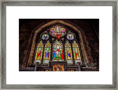 Ancient Stained Glass Framed Print by Adrian Evans