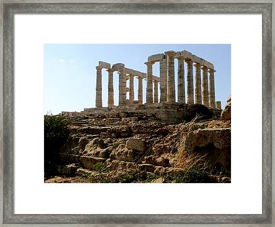 Ancient Temple Framed Print by Constantinos Charalampopoulos