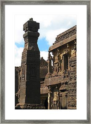 Ancient Tower Framed Print by Russell Smidt
