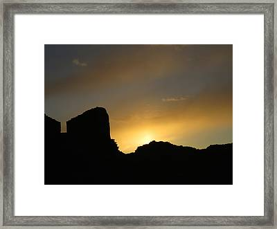 Ancient Walls Against The Sunset Framed Print by Feva  Fotos
