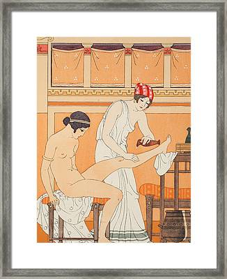 And Anoit It With Fragrant Rose Framed Print by Joseph Kuhn-Regnier