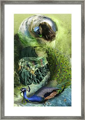 And Everything Emptying Into White Framed Print by Sonya Shannon