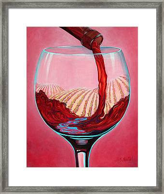 ...and Let There Be Wine Framed Print by Sandi Whetzel
