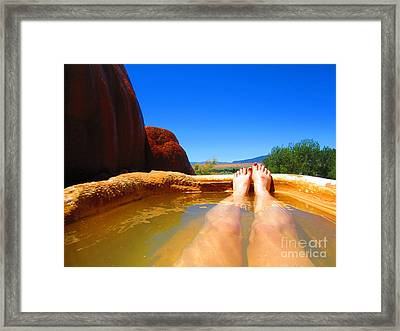 And Relax Framed Print by C Lythgo