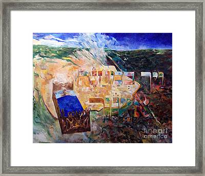 And The Angel Of Hashem Smote In The Camp Of Ashshur Framed Print by David Baruch Wolk