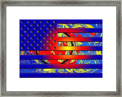 And The Flag Still Stands Framed Print by Robert Margetts