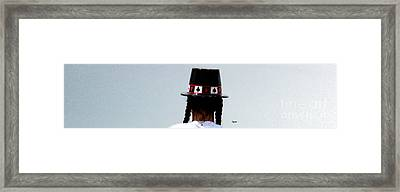 And The Rabbit Said...keep It All In The Hat. Framed Print by Steven  Digman