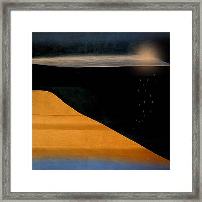 And The Rains Came Framed Print by Carol Leigh