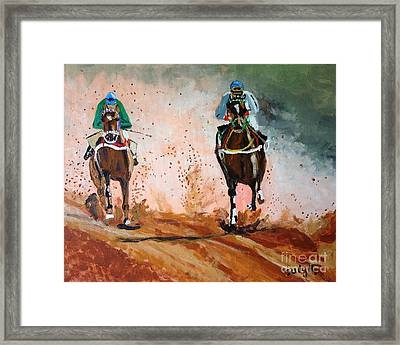 And The Winner Is Framed Print by Judy Kay