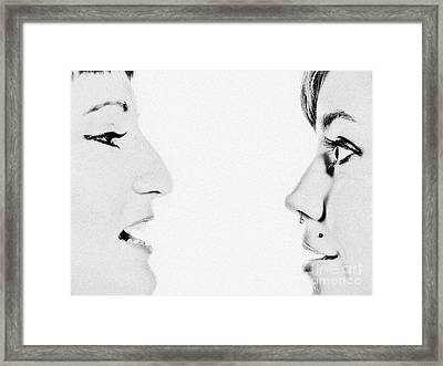 And Then She Said... Framed Print by Ray Dauphinais