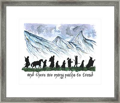 And There Are Many Paths To Tread Framed Print by Bryana  Johnson