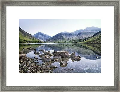 And There Was Peace... Framed Print by Evelina Kremsdorf
