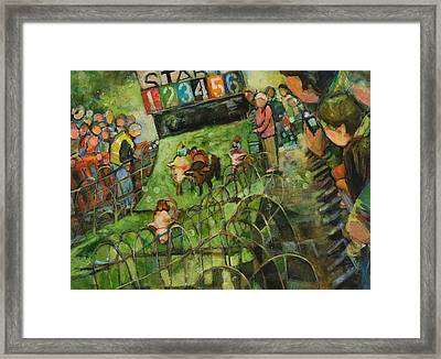 And They Are Off Framed Print by Jen Norton