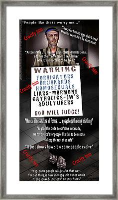 And They Cried Crucify Him - The Looking Glass 1 Framed Print by Reggie Duffie