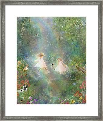And They Danced And Danced Framed Print by Carrie Jackson